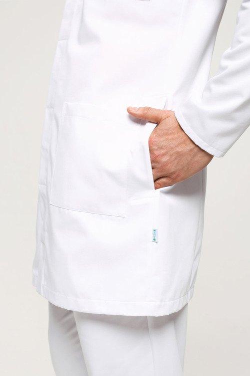 74137f891dfff Fartuch męski biały Apolonia FA 49   Odzież medyczna na ...