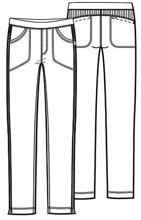 Antybakteryjne damskie spodnie medyczne granatowe    Cherokee Infinity 1124A