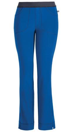 Antybakteryjne damskie spodnie medyczne  niebieski royal   Cherokee Infinity 1124A