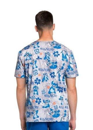 Bluza medyczna z nadrukiem Lilo i Stich